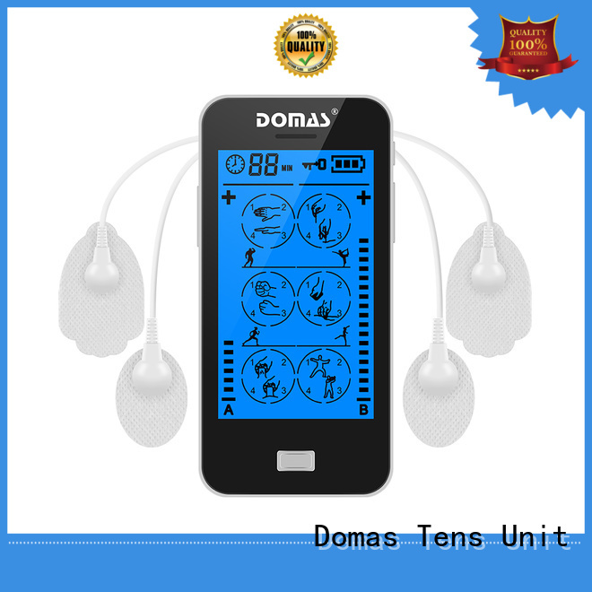 Domas Brand drug-free massager electro-analgesia touch screen tens unit manufacture
